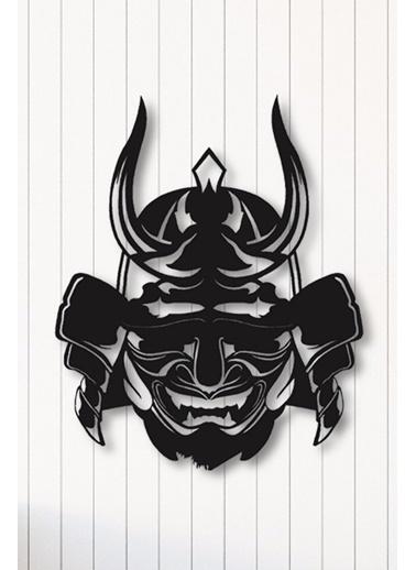 Angemiel Home Samuray Maske Metal Duvar Tablosu Siyah